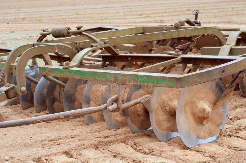 O close up do equipamento de exploração agrícola chamou um disco fotografia de stock royalty free