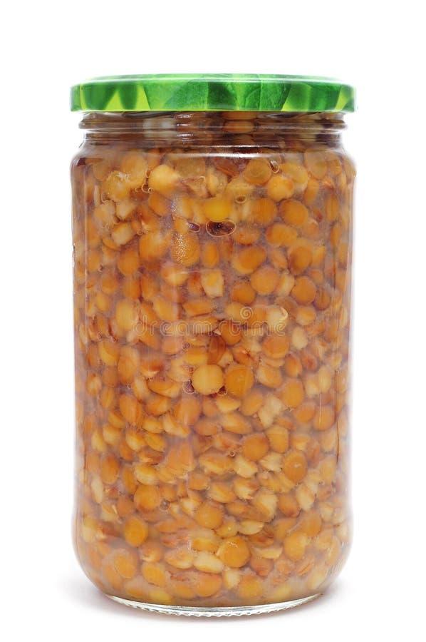 Frasco das lentilhas imagens de stock