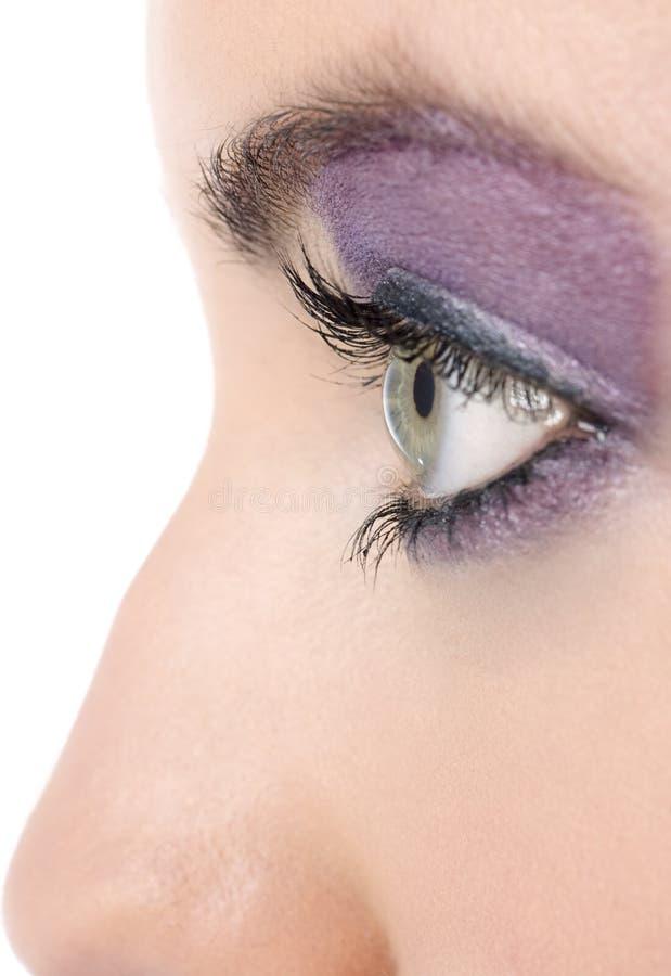 O close up dos womans eye com composição foto de stock royalty free