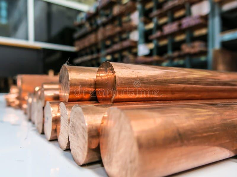 O cobre é uma matéria prima fotografia de stock royalty free