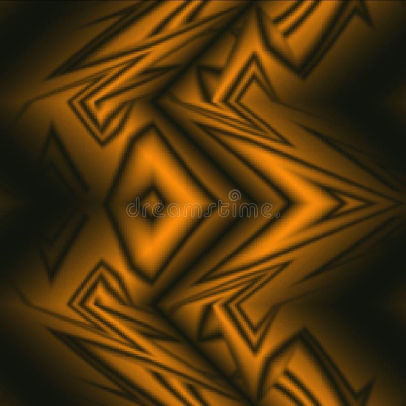 O cobre coloriu o teste padrão abstrato tribal do fundo ilustração stock