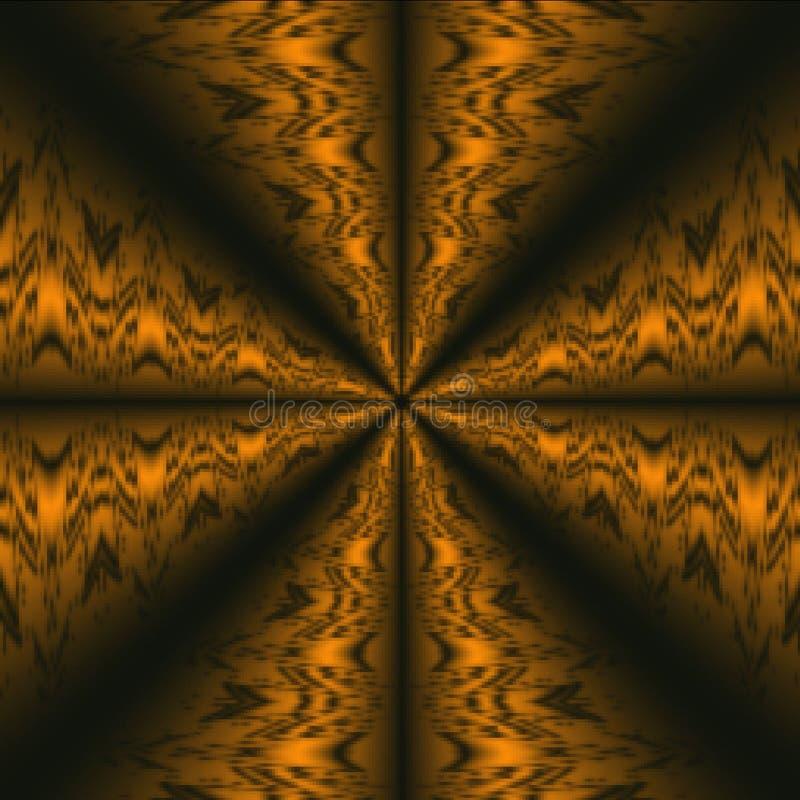 O cobre coloriu o teste padrão abstrato tribal do fundo ilustração royalty free
