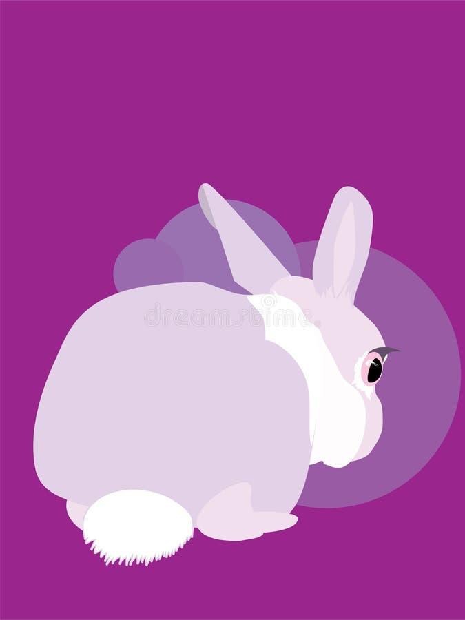 O coelho caiu o medo animal do olho do coelho do susto ilustração do vetor