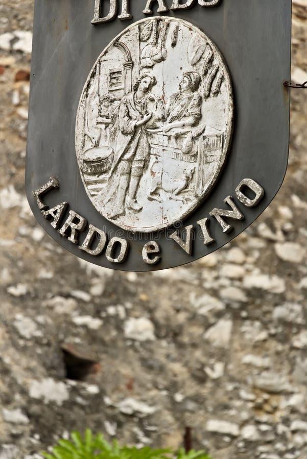 o Colonnata Carrara, arkivfoton