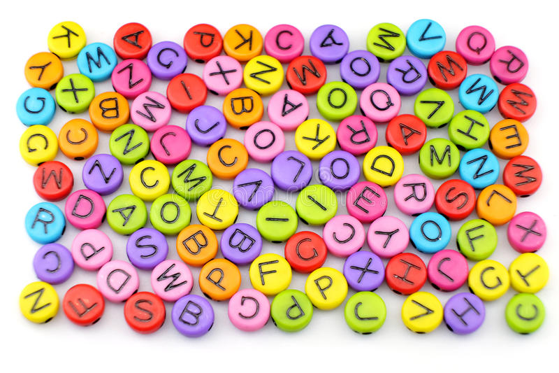 O colorido do alfabeto imagens de stock royalty free