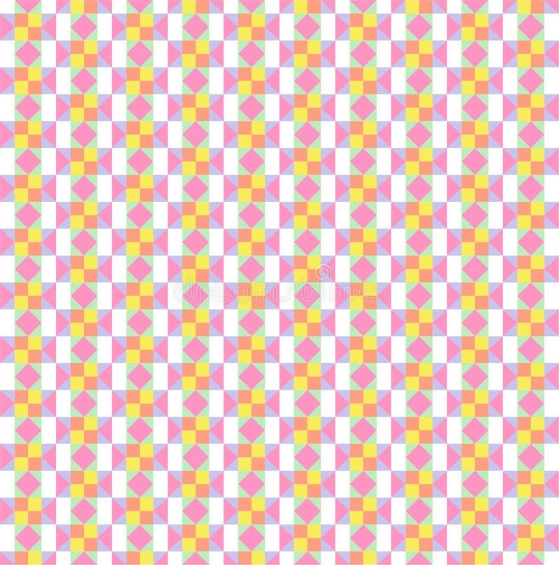 O colorido do papel de parede do teste padrão ilustração stock