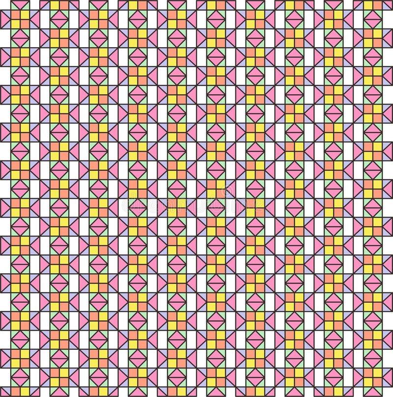 O colorido do papel de parede do teste padrão ilustração do vetor