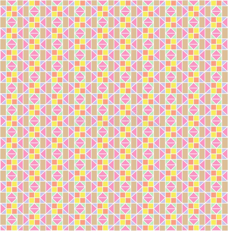 O colorido do papel de parede do teste padrão ilustração royalty free