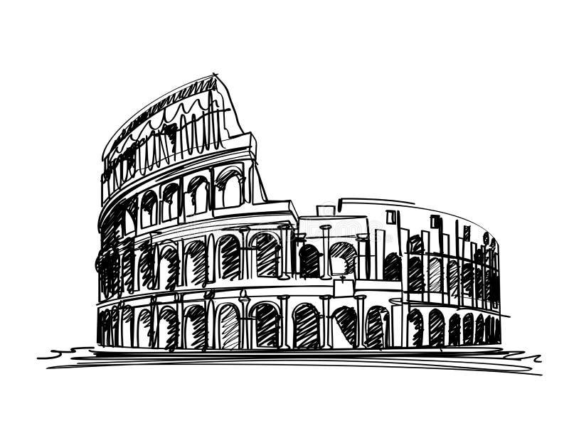 O Colosseum ilustração stock