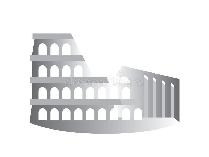 O Colosseum ( Coliseum) , igualmente sabido como Flavian Amphitheater, Roma, Itália ilustração royalty free