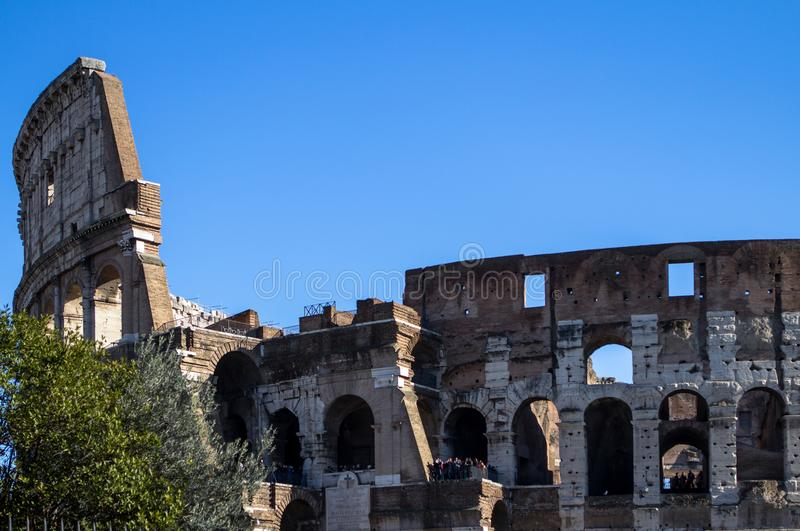O Colosseum, Roma fotografia de stock royalty free