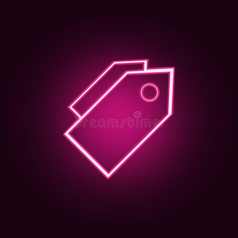 o comércio etiqueta o ícone Elementos da Web nos ícones de néon do estilo Ícone simples para Web site, design web, app móvel, grá ilustração royalty free