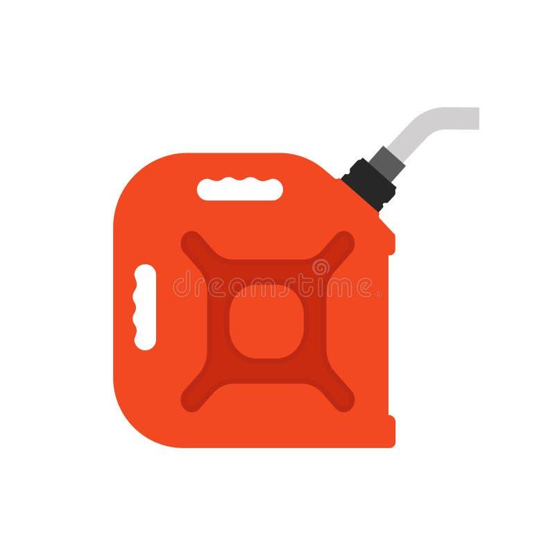 O combustível pode intoxicar a energia do ícone do vetor Carro diesel da gasolina da indústria do cartucho do óleo da gasolina Re ilustração royalty free