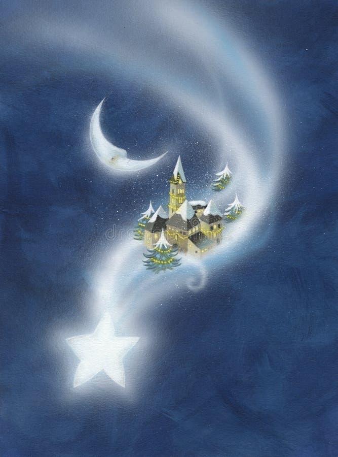 O cometa ilustração royalty free