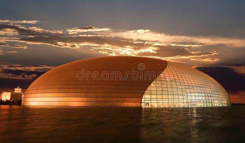 O complexo de teatro nacional recentemente aberto de Beijing fotos de stock