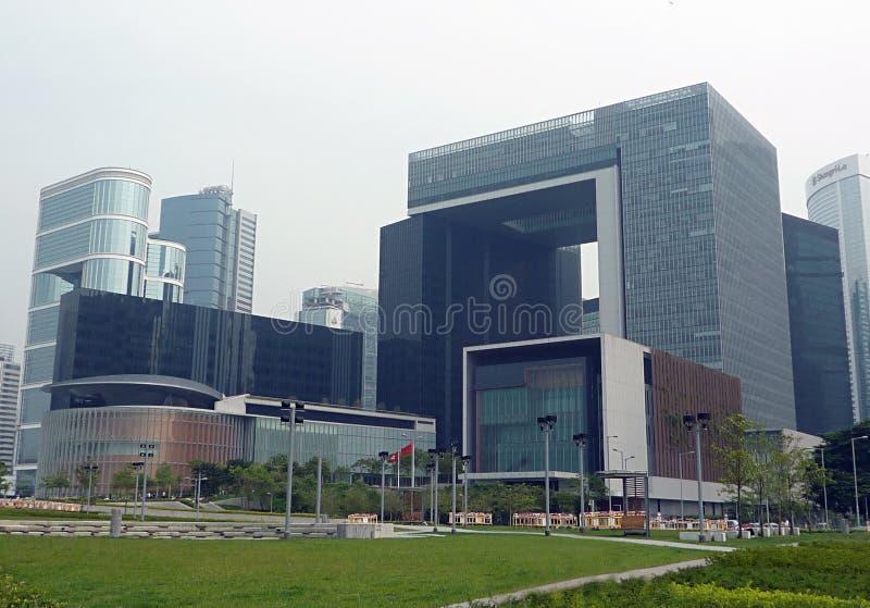 O complexo do conselho legislativo, Hong Kong fotografia de stock