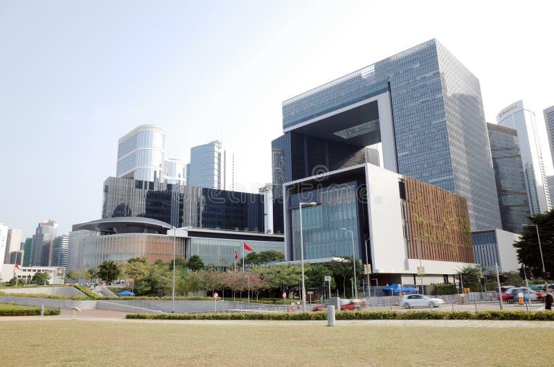O complexo do conselho legislativo, Hong Kong imagens de stock