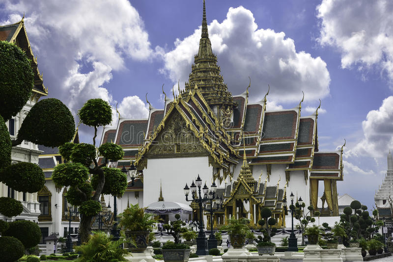 O complexo do palácio grande em Banguecoque Serviu como a residência oficial de reis tailandeses no fim do século XIX fotos de stock