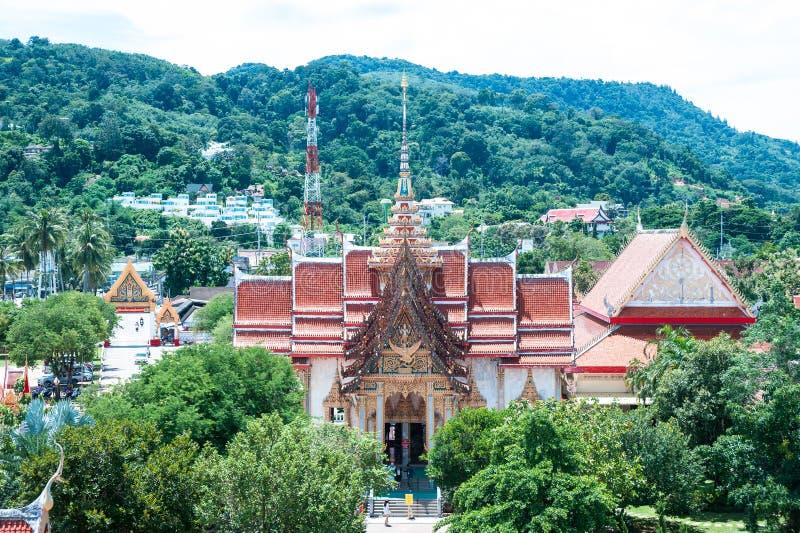 O complexo do templo de Wat Chalong em Phuket, Tailândia imagem de stock royalty free