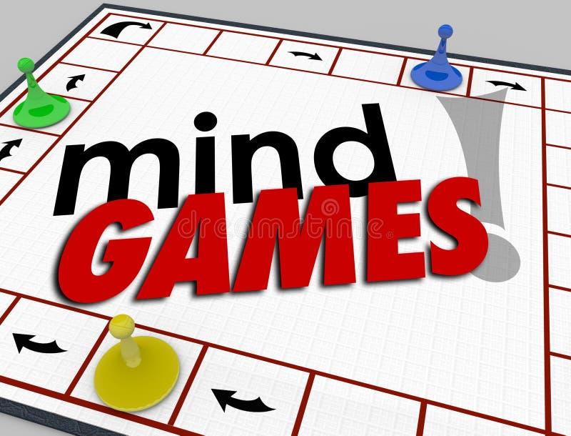 O comportamento da psicologia da placa dos jogos de mente engana a emoção da psicologia ilustração do vetor
