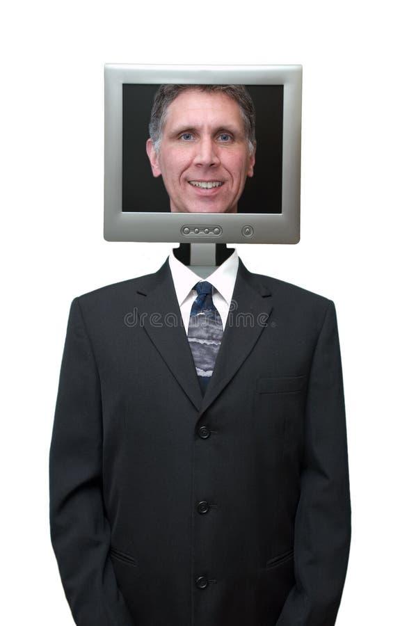 O computador amigável, Internet, tecnologia isolou-se imagens de stock