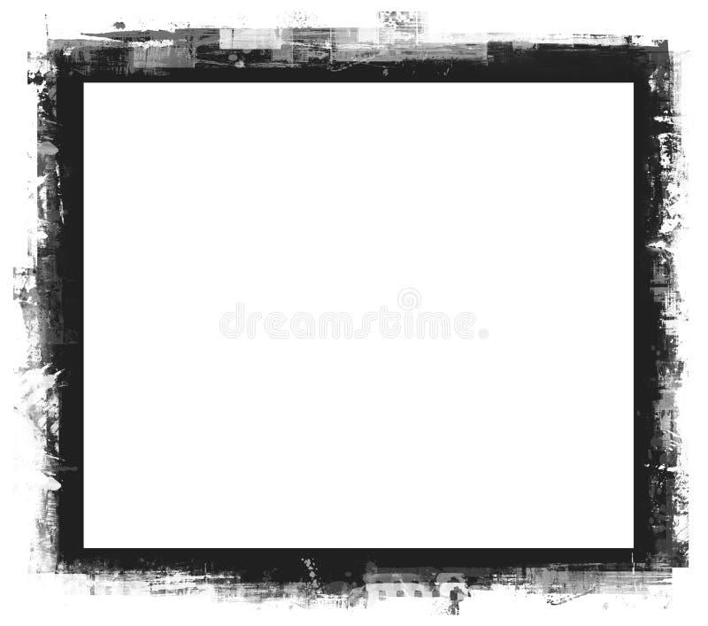 O computador projetou a beira do grunge ilustração stock