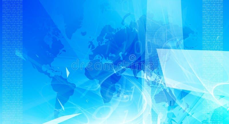 Fundo azul moderno do negócio ilustração stock