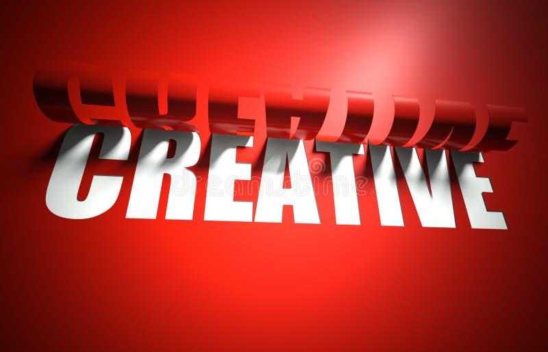 O conceito creativo, cortou no fundo ilustração stock