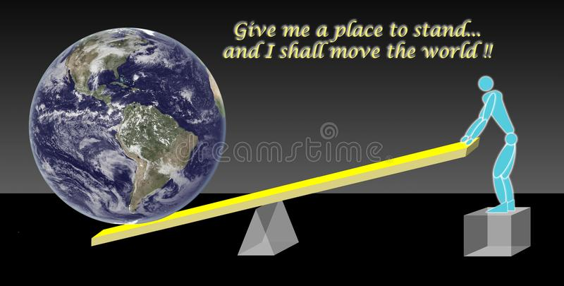 O conceito da alavanca por Archimedes fotografia de stock royalty free