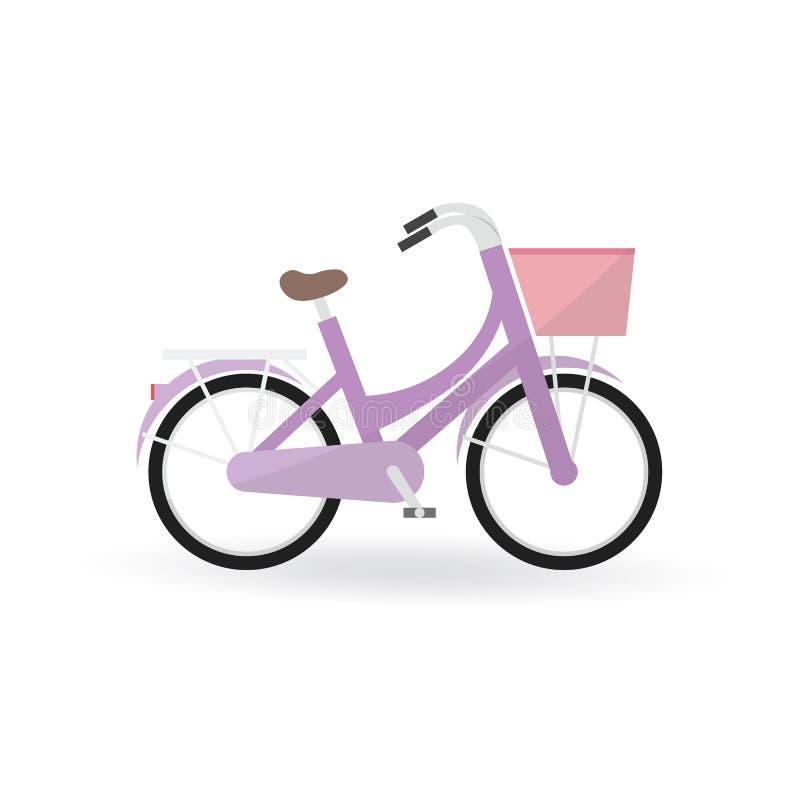 O conceito da bicicleta pela bicicleta geral é cor roxa ilustração stock