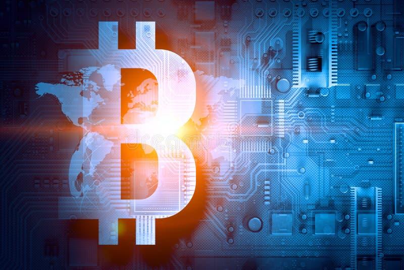 O conceito da codifica??o cripto da moeda ilustração royalty free