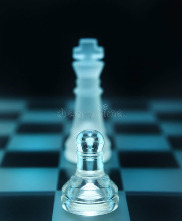 Xadrez da equipa fraca imagem de stock