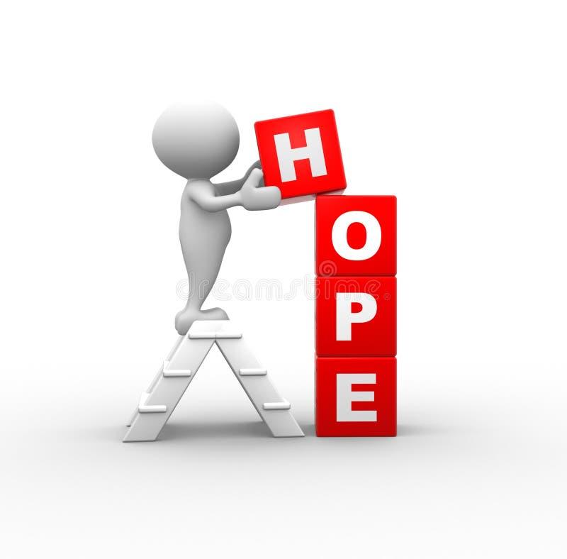 O conceito da esperança ilustração royalty free
