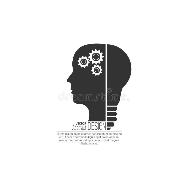 O conceito da faculdade criadora da ideia ilustração royalty free