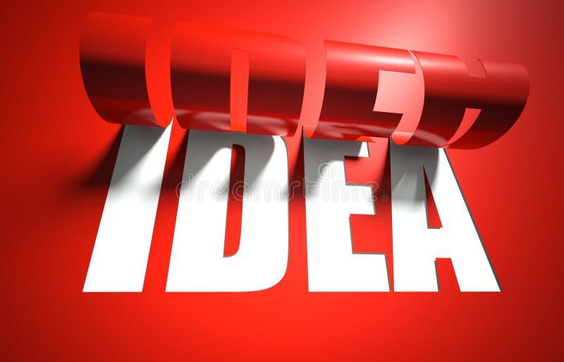 O conceito da idéia, cortou no fundo ilustração do vetor