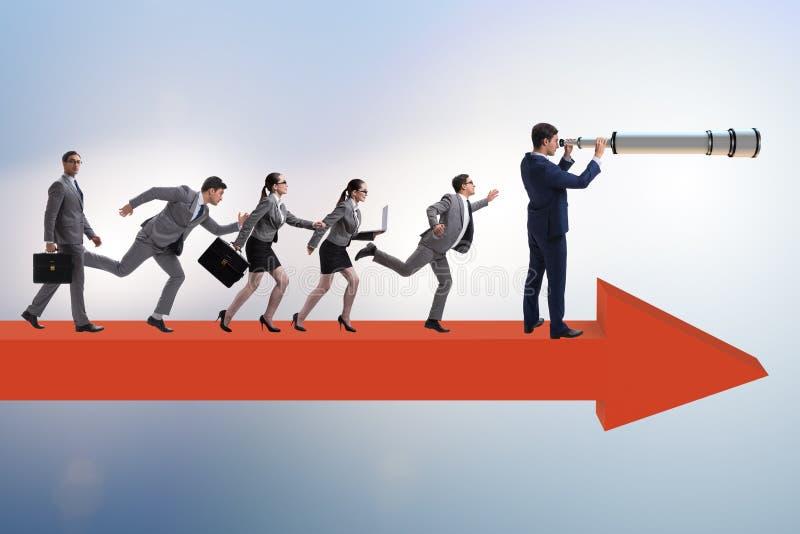 O conceito da lideran?a com v?rios executivos imagens de stock