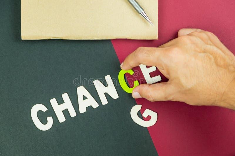 O conceito da mudança pode ser uma boa possibilidade foto de stock