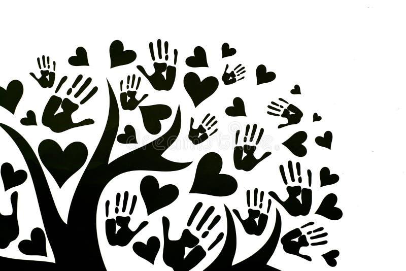 O conceito da paz, da unidade, da amizade e do amor ilustração do vetor