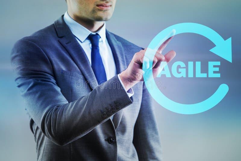 O conceito da programação de software ágil imagens de stock