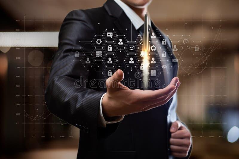 O conceito da promoção e desenvolvimento das tecnologias no negócio fotos de stock