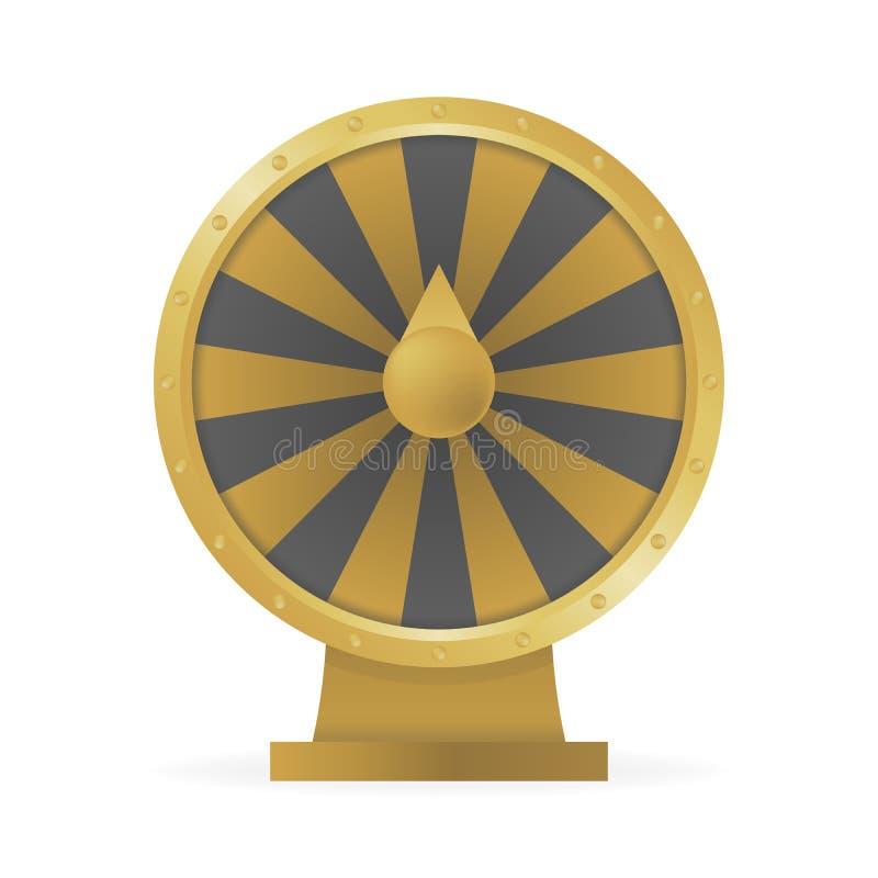 O conceito da roda da fortuna para ganhar o dinheiro e os prêmios vector a ilustração ilustração do vetor