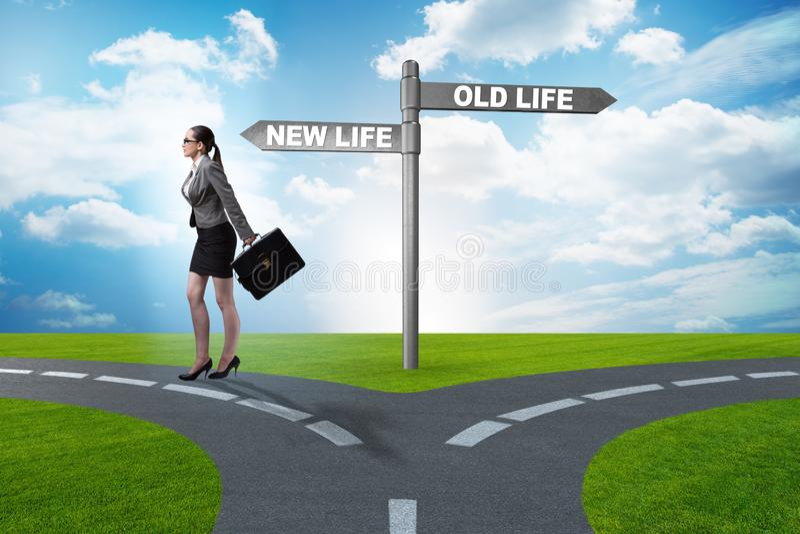 O conceito da vida nova e velha fotografia de stock royalty free