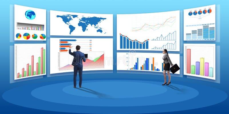 O conceito de cartas de negócio e de visualisation da finança ilustração royalty free