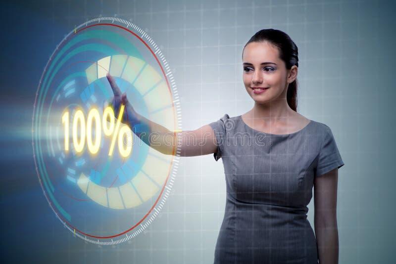 O conceito de cem por cento 100 ilustração stock
