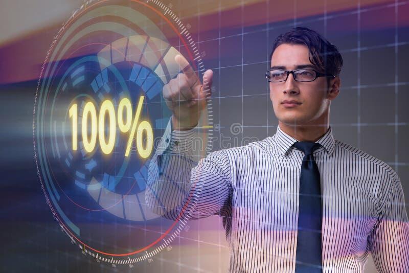 O conceito de cem por cento 100 imagem de stock