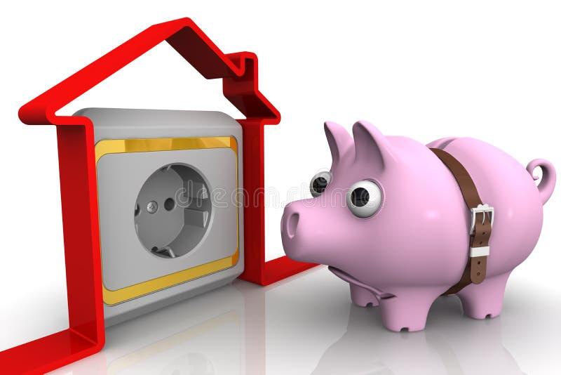 O conceito de custos de eletricidade altos ilustração royalty free