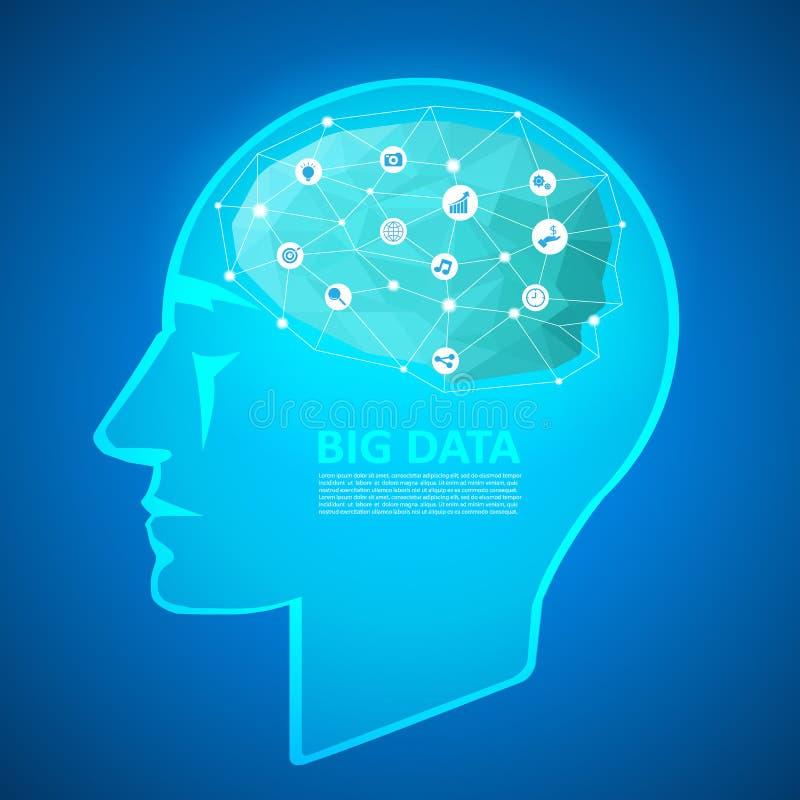 O conceito de projeto de um clique, pode ser usado para a inovação, solução ilustração do vetor