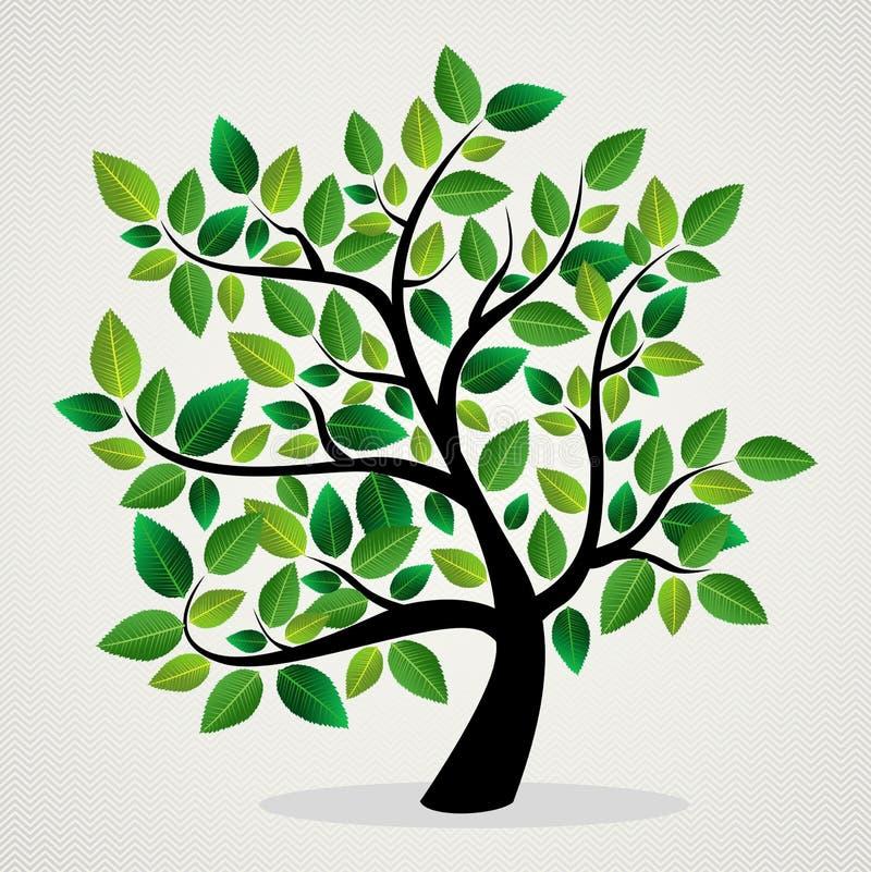 O conceito deixa a árvore ilustração royalty free
