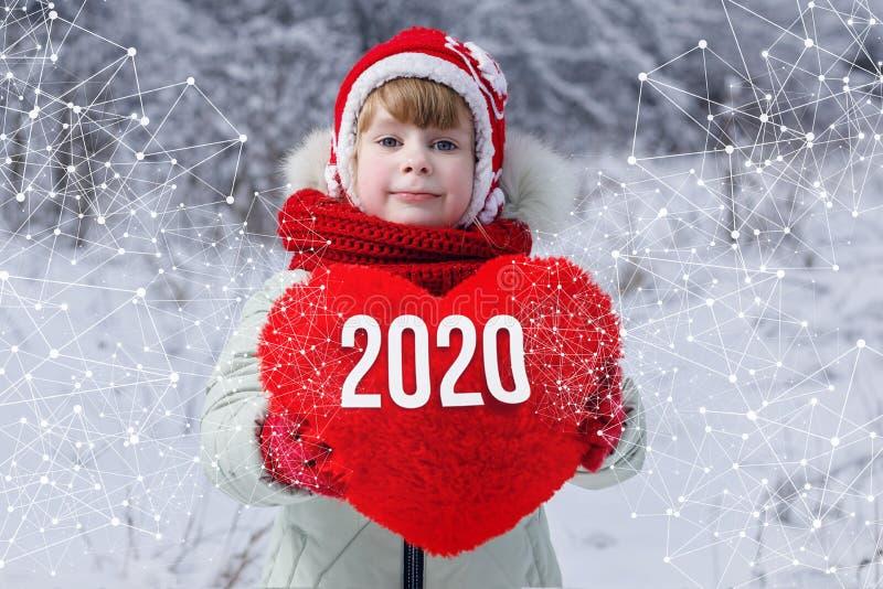 O conceito do amor no novo 2020 imagem de stock
