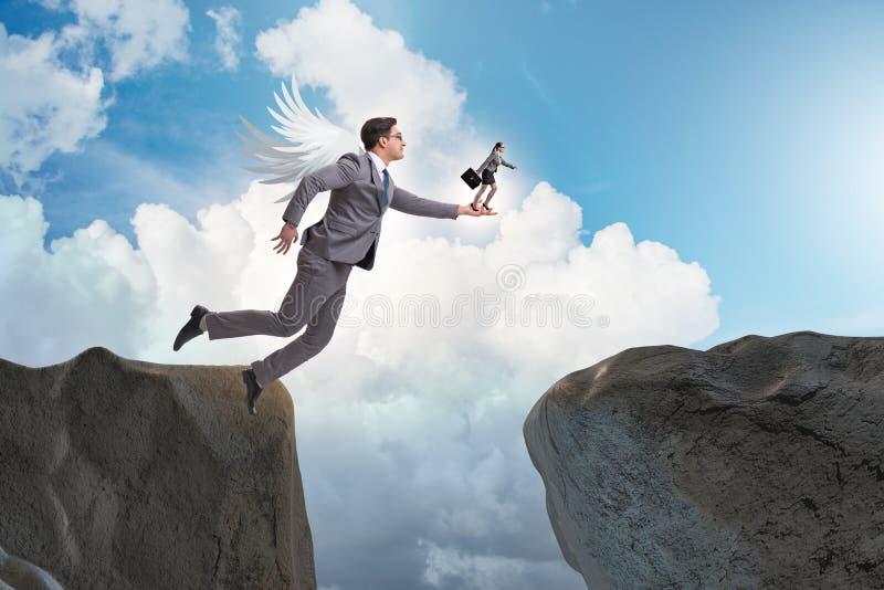 O conceito do capital de risco com acionista do anjo imagens de stock